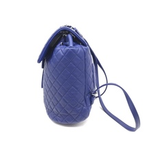 AUTHENTIC CHANEL ELECTRIC BLUE QUILTED LEATHER LARGE URBAN SPIRIT BACKPACK SHW image 7