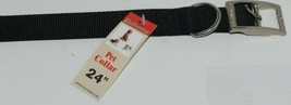 Valhoma 741 24 BK Dog Collar Black Double Layer Nylon 24 inches image 2