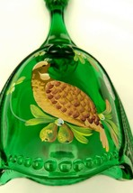 Fenton Partridge in a Pear Tree Emerald Green Bell 7566 EK - $45.00