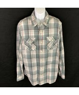 Mens American Eagle Pearl Snap Button Shirt Size XXL Western Shirt 2XL B... - $24.74