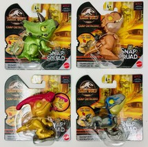 Lot Of 4 Jurassic World Snap Squad Dinosaurs Camp Cretaceous Action Figures NEW - $48.99