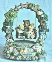 Teddy's Bear Picnic Music Box/Figurine – Teddy Bears On A Swing - Collec... - $26.13