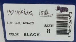 I Love Yo Kids AVA 92T Girls Fringe Boot Black Zip Up Size Eight image 11