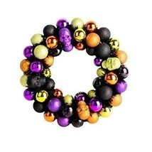 Christmas Multicolour Wreath Plastic Balls Skull Halloween Gift New Year... - £38.21 GBP