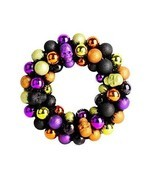 Christmas Multicolour Wreath Plastic Balls Skull Halloween Gift New Year... - £37.97 GBP