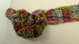 Hand Crafted CROCHET BELT Rosettes Hand Dyed Designer Silk & Cotton One ... - $24.49