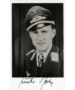 Gunther Rall signed photo. 275 kills. 3rd highest scoring Ace. JG-52 - $44.00