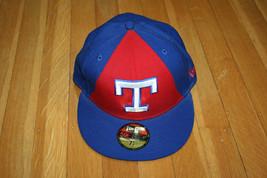 4ea959e153394 Texas Rangers MLB Cooperstown Blue Baseball Cap Hat New Era 59 Fifty Siz.