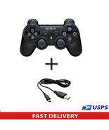 Official Genuine Sony PS3 Wireless Dualshock 3 Controller + Charging cable - $25.23
