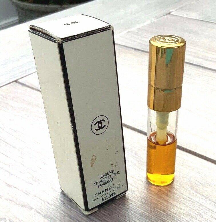 Vintage CHANEL No.5 Spray Perfume 1/5 FL oz Refill 1/2 full original box