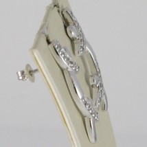 Earrings Silver 925 Run at Temple Hard Kickstand Case with White Cubic Zirconia image 1