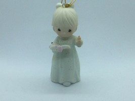 #523852 PRECIOUS MOMENTS 1990 CHRISTMAS ORNAMENT, 1ST YEAR ISSUE, GIRL W... - $14.75