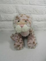 Webkinz Strawberry Cloud Leopard Pink Tan Ganz Stuffed Animal No Code Tag - $8.90