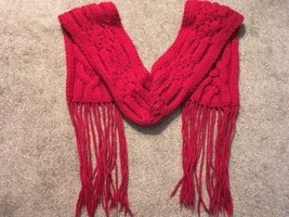 Banana Republic 6' X 7' Heavy Wool Red Scarf (over 1lb)  - $44.99
