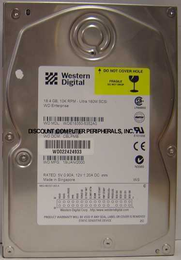 "18GB 10KRPM 3.5"" SCSI 80PIN Drive WDE18350-5352A0 Free USA Ship Our Drives Work"