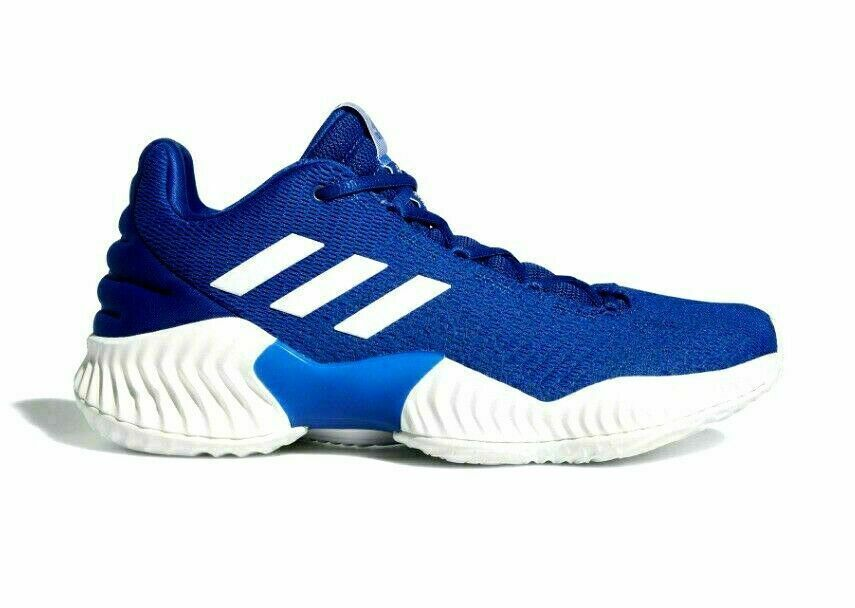Primary image for adidas Men Pro Bounce 2018 Low Top Basketball Shoes Blue White AH2678 Size 13.5