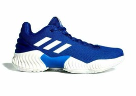 adidas Men Pro Bounce 2018 Low Top Basketball Shoes Blue White AH2678 Si... - $71.95