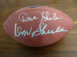 DON SHULA DAVE SHULA DOLPHINS BENGAL HOF SIGNED AUTO 75TH DUKE NFL FOOTB... - $395.99