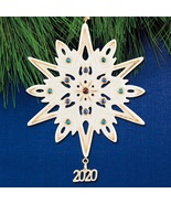 Lenox 2020 Gemmed Snowflake Ornament Annual Christmas Multicolored Cryst... - $110.00