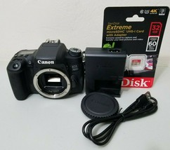 Canon EOS Rebel 760D T6S 24.2MP Digital SLR Camera Body *VERY GOOD* Free... - $375.21