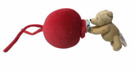 RARE VHTF Disney Winnie Pooh Bear Musical Red balloon Baby Crib Music Pu... - $99.00