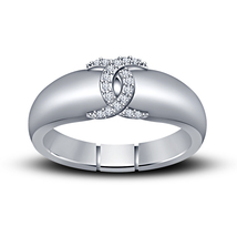 White Gold Fn. 925 Silver Round Cut Diamond  Beautiful CC Style Engagement Ring - $68.99