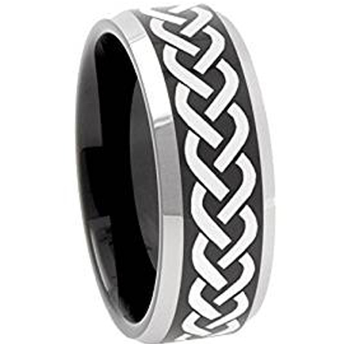 New With Tags Scott Kay Platinum Mens 6mm Wedding Band: (New With Tag) Tungsten Carbide Celtic Wedding Band Ring
