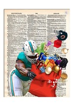 Art N Wordz Sacked Football Gift Sack Dictionary Page Pop Art Print Poster - $21.00