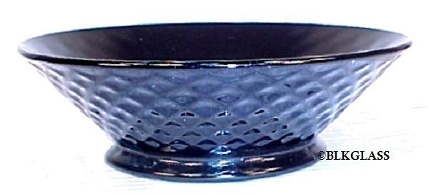 Imperial Glass Diamond Quilted Ebony Black Glass Flared Bowl Dish 2 cup - $14.57