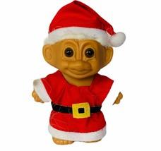 Russ troll vtg Holiday Christmas toy figure gift Santa elf white hair Mr... - $24.70