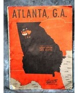 ATLANTA, G.A. 1945 Song Sheet - $2.50