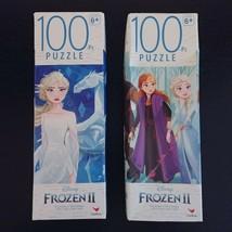 Disney Frozen II 100 pc Jigsaw Puzzles Lot of 2 Age 6+ Olaf Elsa New Sealed - $15.47