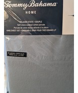 Tommy Bahama Relaxed State Stone Washed Cotton Percale Ocean Blue Sheet ... - $108.00