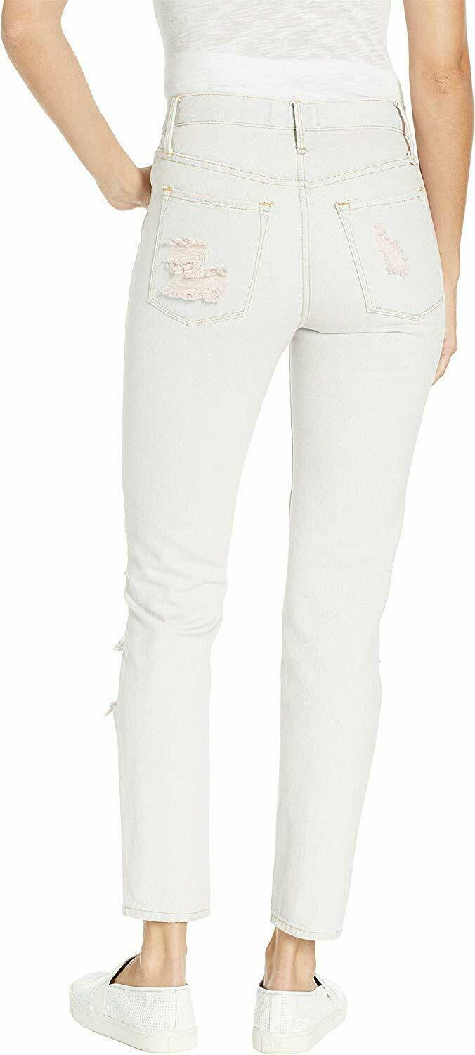 Juicy Couture Women'S Pink Pigment Distressed Girlfriend Jeans image 3
