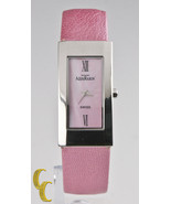 AquaMarin Women's Stainless Steel Watch w/ Pink Dial pink Leather Strap ... - $246.57