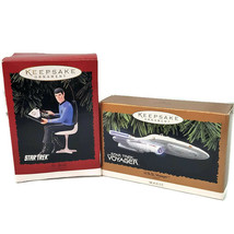 Hallmark Keepsake Ornaments Lot of 2 Star Trek Voyager and Mr. Spock 199... - $18.88