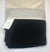 Restoration Hardware Garment-Dyed Linen Duvet Cover Full/Queen Charcoal ... - $219.99