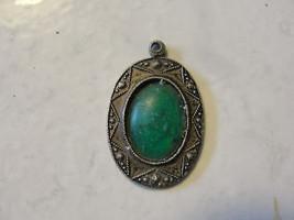 Green gemstone, made in Hong Kong jewelry - $10.45