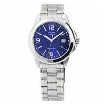 Casio 30 Meter Water Resistant Stainless Steel 3-Hand Analog Watch with Date MTP - $25.00
