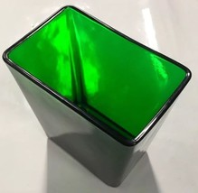 "Vintage 1950s Napco Forest Green Art Glass Vase Planter 1166 6.25"" x 5.5... - $19.59"