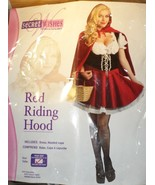 Secret Wishes Red Riding Hood Costume adult  size 14 -16 Halloween sexy - $26.77