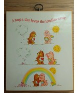 Rare Vintage 1982 Care Bears Plaque A hug a day keeps the lonelies away - $12.00