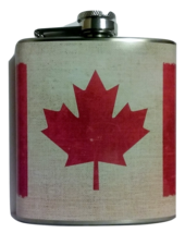 6 oz Canadian Flag Stitch Hip Flask - $15.44