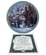 True Spirit of Christmas Plate Christmas Carol Lloyd Garrison 1993 Colle... - $44.55