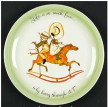 """Holly Hobbie """"Life Is So Much Fun . . . Why Hurry Through It?"""" Ceramic Plate - $10.00"""