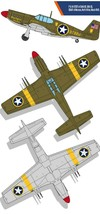 Academy 12338 USAAF P-51 North Africa Airplane Plastic Hobby Model Kit image 2