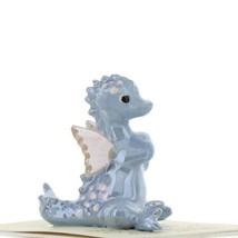 Hagen Renaker Miniature Dragon Baby Blue Ceramic Figurine image 1