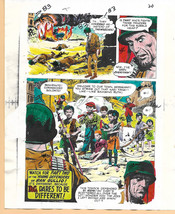 Original 1975 Sgt Rock Our Army at War 283 DC Comic color guide colorist artwork - $99.50