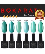 Ice Green Color Bokarat Gel Nail Polish 7.3 ml Soak Off UV LED High Qual... - $3.82+