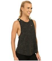 Nike Dri-Fit Women's Tailwind Neon Slub Running Tank Top Size S Gray Dra... - $14.84